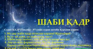 Шаби қадр (Лайлатулкадр) дар 2021 -сол
