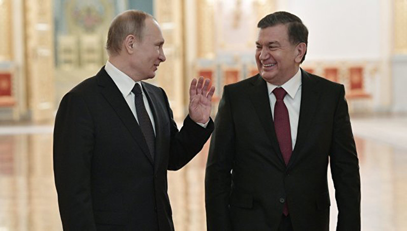 Путин Мирзиёев Шавкат